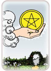 ace of pentacles - tarot card of the day