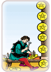 eight of pentacles - tarot card of the day