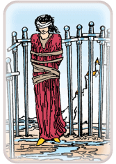 eight of swords - tarot card of the day