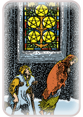 five of pentacles - tarot card of the day