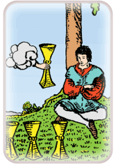 four of cups - tarot card of the day