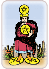 four of pentacles - tarot card of the day