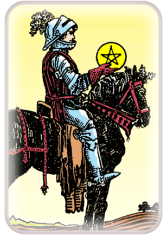 knight of pentacles - tarot crd of the day