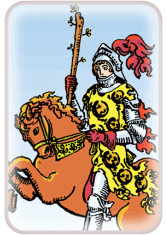 knight of wands - tarot card of the day