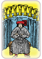 nine of cups - tarot card of the day