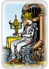 queen of cups - tarot card of the day