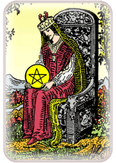 queen of pentacles - tarot card of the day