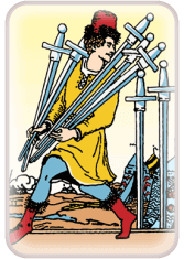 seven of swords - tarot card of the day