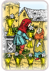six of cups - tarot card of the day