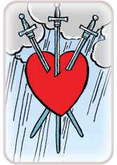 three of swords - tarot card of the day