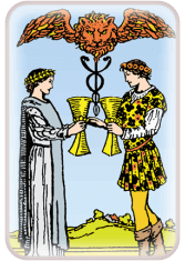 two of cups - tarot card of the day