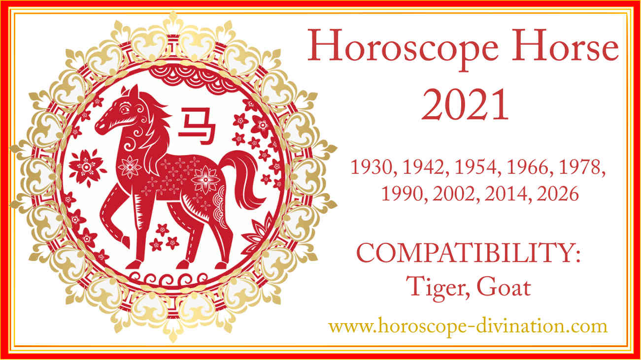 chinese Feng Shui 2021 for Horse
