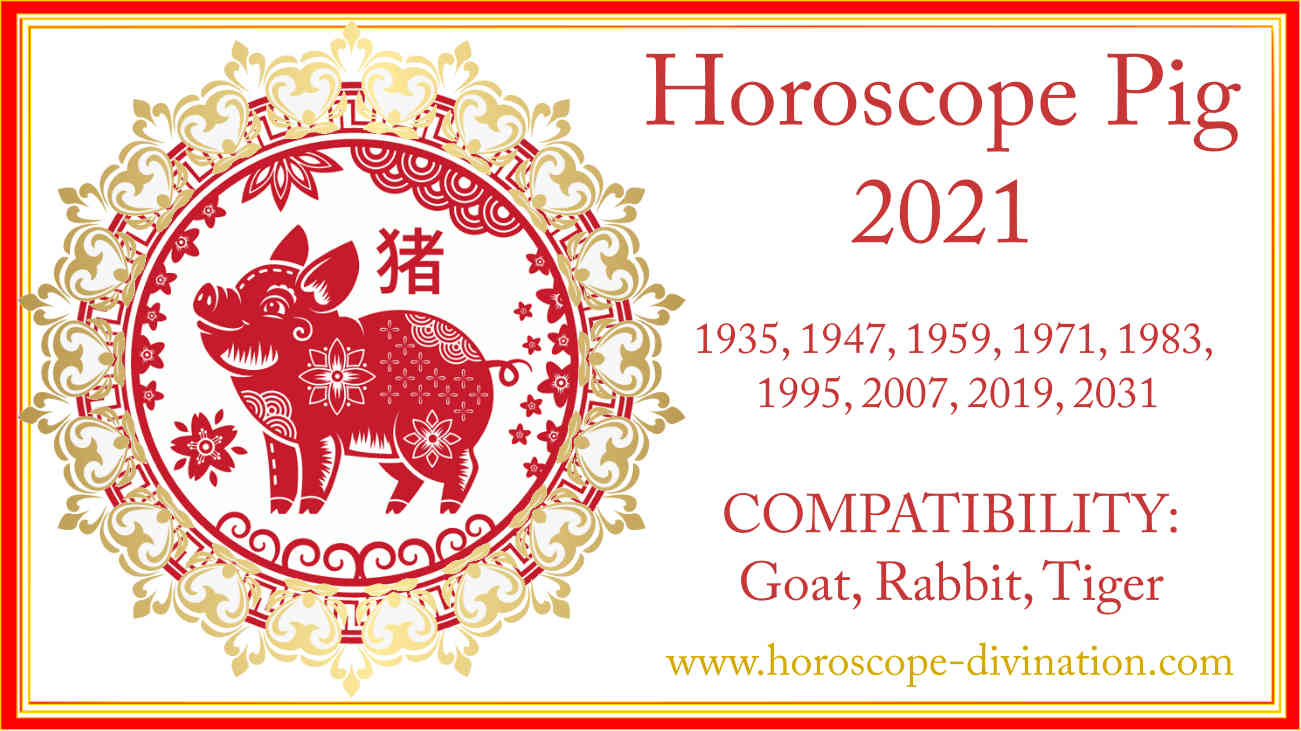 chinese New Year 2021, Feng Shui for Pig
