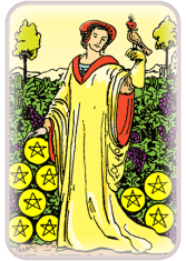 Nine of Pentacles - weekly tarot reading online