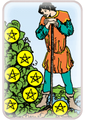 Seven of Pentacles - weekly tarot reading online