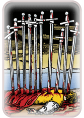 Ten of Swords - weekly tarot reading online