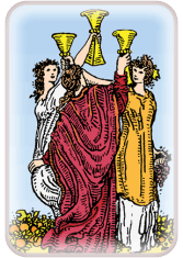 Three of Cups - weekly tarot reading online
