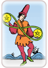 Two of Pentacles - weekly tarot reading online